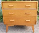 SOLD - G-Plan Gold Label Oak Three Drawer Chest of Drawers